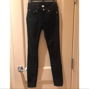 Black True Religion Jeans/jeggings